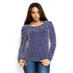Blue Popcorn Knit Jumper